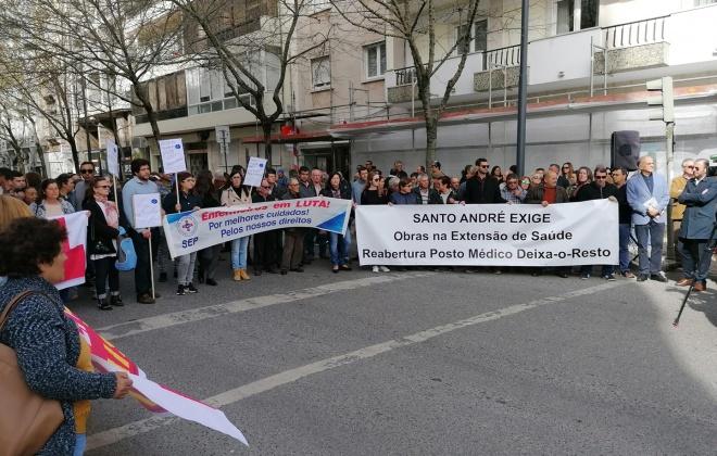 Utentes manifestaram-se em Lisboa por melhores cuidados de saúde no Litoral Alentejano