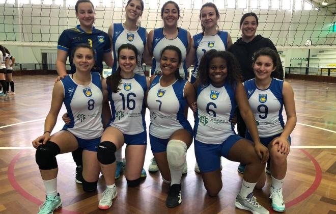 Equipa sénior do Ginásio Clube de Sines sagrou-se campeão regional de Voleibol