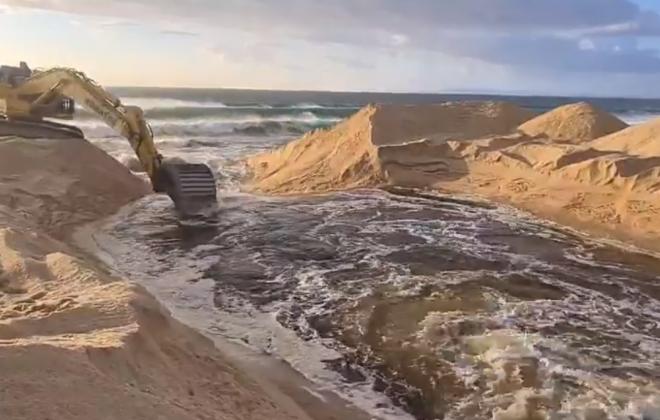 Abertura artificial da lagoa de Melides ao mar ocorreu ontem