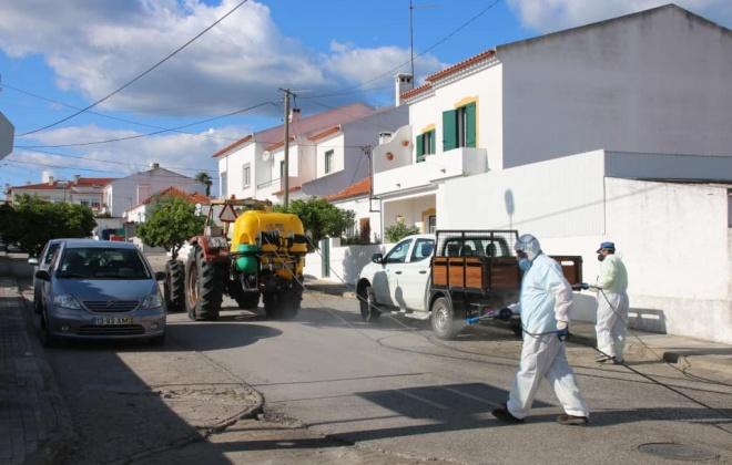 Município de Alcácer do Sal reforça limpeza e desinfeção do espaço público