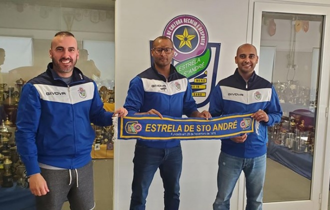 Carlos Cabá (Cadu) é o treinador da equipa sénior do Estrela de Santo André