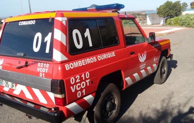 Bombeiros combateram incêndio em Ourique