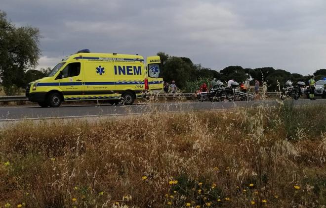 Despiste de mota provoca dois feridos ligeiros em Alcácer do Sal