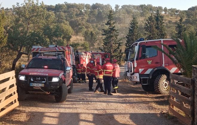 Incêndio consumiu 70 hectares de mato em Colos, Odemira