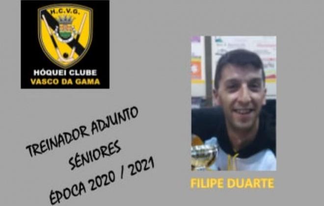 Filipe Duarte é o treinador adjunto do H.C. Vasco da Gama