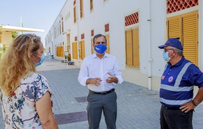 Presidente da Câmara e Proteção Civil de Sines visitam as escolas de Sines