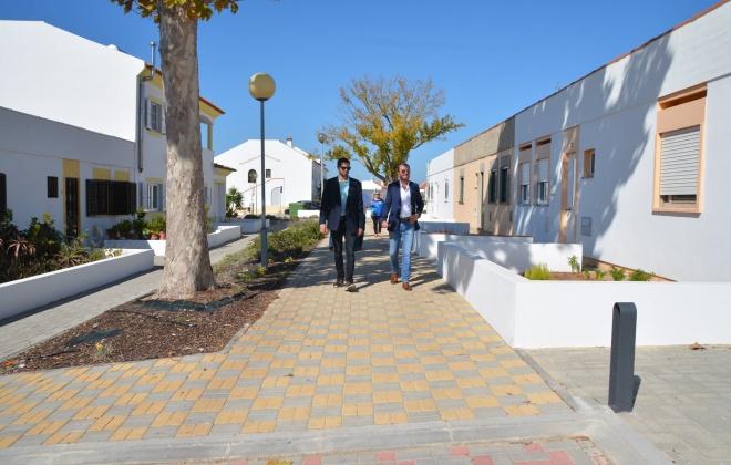 Obras de requalificação dos Bairros das Flores e do Pinhal em Vila Nova de Santo André foram ontem inauguradas