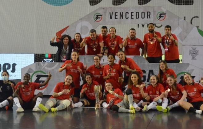 Benfica vence primeira Taça da Liga de Futsal Feminina