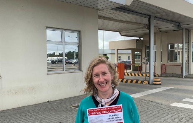 Eurodeputada Sandra Pereira da CDU visitou o Litoral Alentejano (com áudio)