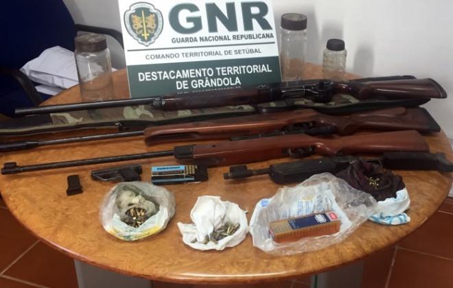 Homem foi detido em Grândola por posse ilegal de armas