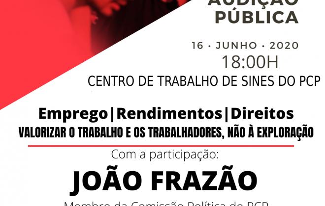 PCP organiza audições públicas em Sines e Santiago do Cacém