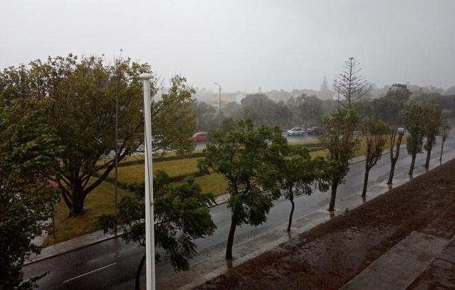 Chuva provoca inundações e queda de árvores no Litoral Alentejano