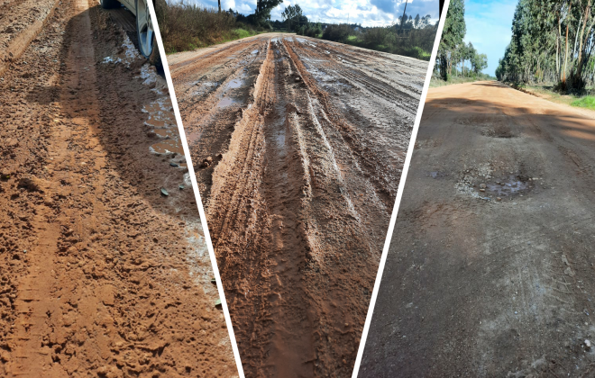 População de São Domingos reclama obras no caminho municipal 555
