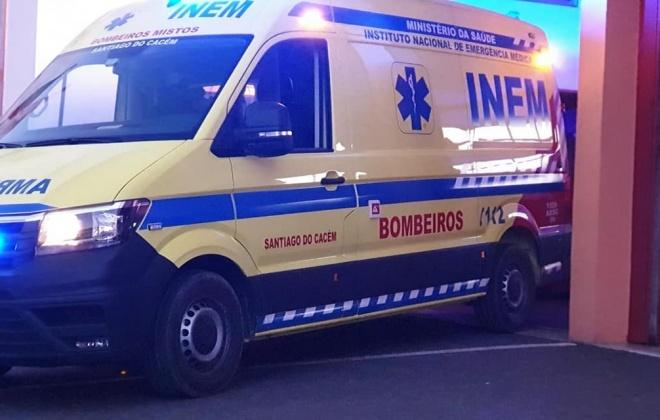 Despiste provoca dois feridos em São Domingos, Santiago do Cacém