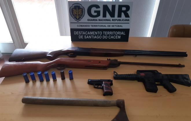 GNR identifica homem por ameaças com arma de fogo em Sines