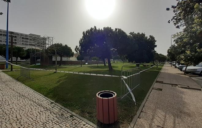 Lagarta do Pinheiro interdita jardim da Alameda da Paz em Sines