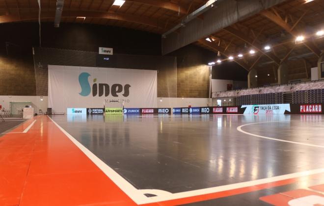 Pavilhão Multiusos de Sines recebe taças da Liga de Futsal a partir de hoje