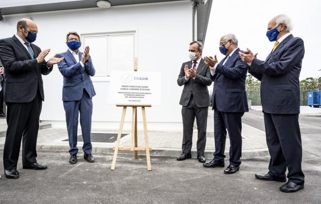 Primeiro-ministro António Costa inaugurou hoje o cabo submarino da EllaLink em Sines