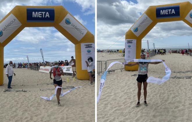 André Costa e Patrícia Serafim venceram a Ultra Maratona Atlântica